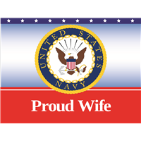 Proud Wife Navy Yard Sign