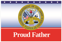 3'x2' Proud Father Army Flag