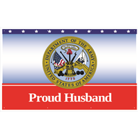 5'x3' Proud Husband Army Banner