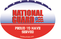 National Guard Proud To Have Served Decal