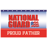 5'x3' Proud Father National Guard Banner