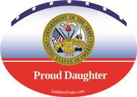 Proud Daughter Army Decal