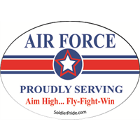 Air Force Star Decal - Proudly Serving