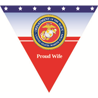 Proud Wife Marines Pennant