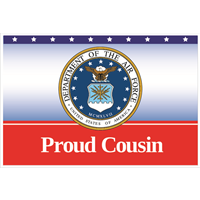 3'x2' Proud Cousin Air Force Flag