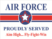 Air Force Star Yard Sign - Proudly Served