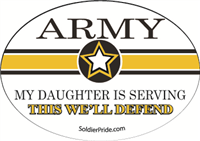 Army Star Decal - Daughter Serving