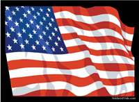 "5.25"" x 4"" American Flag Square Decal"