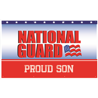 5'x3' Proud Son National Guard Banner