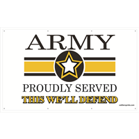 5'x3' Army Star Banner - Proudly Served