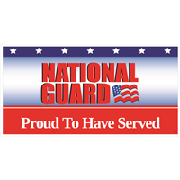 6'x3' National Guard Proud To Have Served Banner