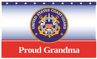 5'x3' Proud Grandma Coast Guard Banner