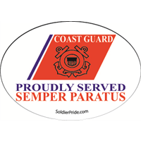 Coast Guard Stripe Decal - Proudly Served