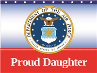 Proud Daughter Air Force Yard Sign