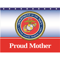 Proud Mother Marine Yard Sign