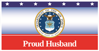 6'x3' Proud Husband Air Force Banner