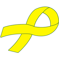 Customizable Ribbon Decal - Yellow
