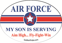 Air Force Star Decal - Son Serving