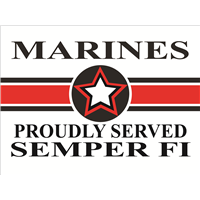 Marines Star Yard Sign - Proudly Served