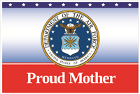 3'x2' Proud Mother Air Force Flag