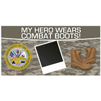 8' x 4' My Hero - Army Banner