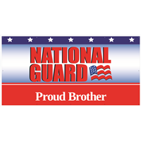 8'x4' Proud Brother National Guard Banner