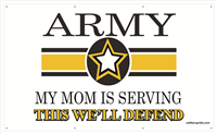 5'x3' Army Star Banner - Mom Serving