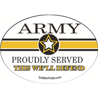 Army Star Decal - Proudly Served