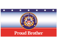 8' x 4' Proud Brother Coast Guard Banner
