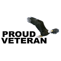 "11.5"" x 5"" Proud Veteran with Eagle Decal"