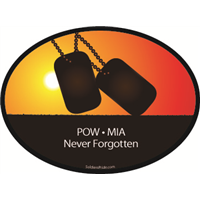 POW MIA Never Forgotten Sunset Decal