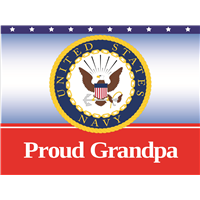 Proud Grandpa Navy Yard Sign