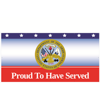 8' x 4' Proud To Have Served Army Banner