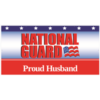 8'x4' Proud Husband National Guard Banner