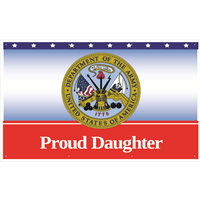 5'x3' Proud Daughter Army Banner