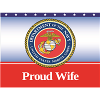 Proud Wife Marines Yard Sign