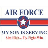 Air Force Star Yard Sign - Son Serving