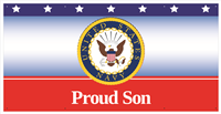 6'x'3' Proud Son Navy Banner