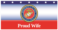 6'x3' Proud Wife Marines Banner