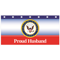 6'x3' Proud Husband Navy Banner