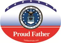 Proud Father Air Force Decal