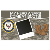 5'x3' My Hero - Navy Banner