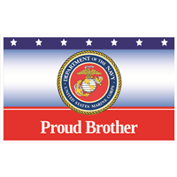 5'x3' Proud Brother Marines Flag
