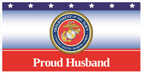6'x3' Proud Husband Marines Banner