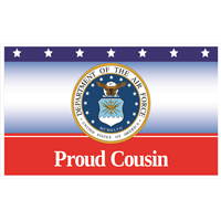 5'x3' Proud Cousin Air Force Flag