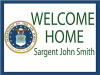 Custom Text Yard Sign - Air Force Seal