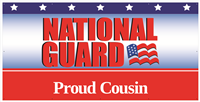 8'x4' Proud Cousin National Guard Banner