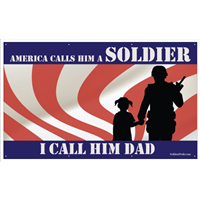 8'x4' America Hero - Dad w/Girl Banner