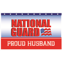 5'x3' Proud Husband National Guard Banner