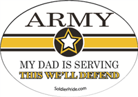 Army Star Decal - Dad Serving